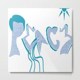 Peaceful Pictures Metal Print