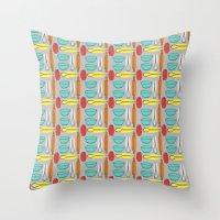 baking Throw Pillows featuring Baking Pattern by Britt Clifton