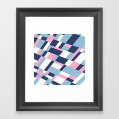 Matisse Map Pink Framed Art Print