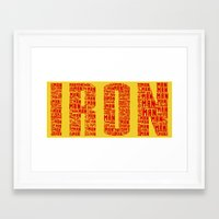 ironman Framed Art Prints featuring IRONman  by Kramcox