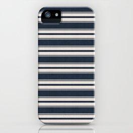 Classic Horizontal Stripe in Navy iPhone Case