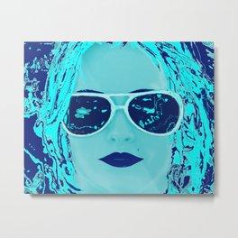Alabama Blue Metal Print