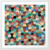 quilt Art Prints featuring Quilt by Tye Cottage Shop