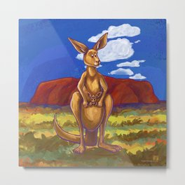 Animal Parade Kangaroo Metal Print