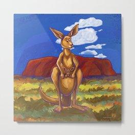 Animal Parade Kangaroo Metal Print