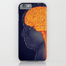 the thought of you lights up my brain iPhone Case