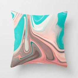 Liquid Sea Shell Marble Throw Pillow