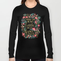 Little & Fierce on Charcoal Long Sleeve T-shirt