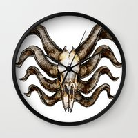 venom Wall Clocks featuring Venom by Ryan Eduad