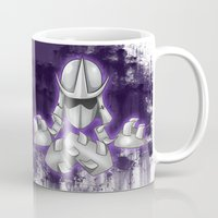ninja turtle Mugs featuring Shredder -Teenage Mutant Ninja Turtle by Roe Mesquita