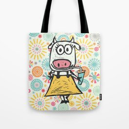 Jazzy Cow Tote Bag