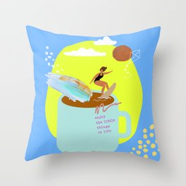 Enjoy the Little Things 1 Throw Pillow