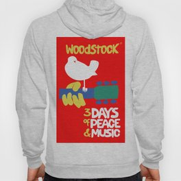 Woodstock 1969 - red background Hoody