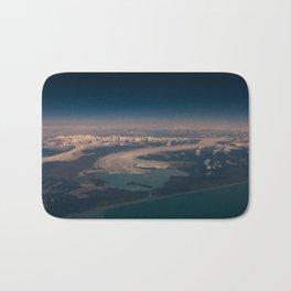 Aerial Glacier Three - Alaska Bath Mat