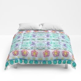 Bluebells and other flowers Comforters