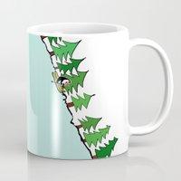 ski Mugs featuring Ski Penguin by Jiwon Kim