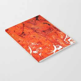 Red Abstract Art - Linked - By Sharon Cummings Notebook