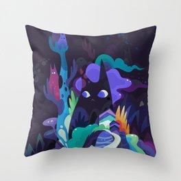 dark-side cats Throw Pillow