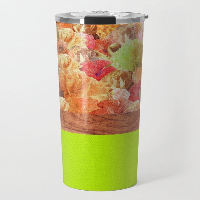 Layers Floral Lime Travel Mug