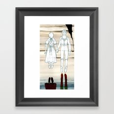 We Both Go Down Together Framed Art Print