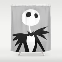 jack nicholson Shower Curtains featuring Jack by Polvo