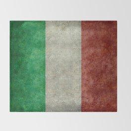 Italian flag, vintage retro style Throw Blanket