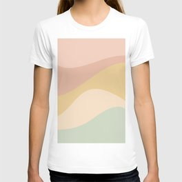 Abstract Color Waves - Neutral Pastel T-shirt