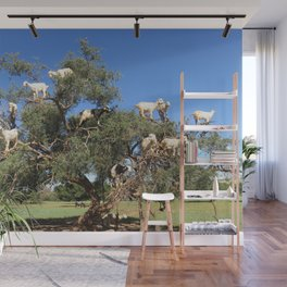 Goats in a tree Wall Mural