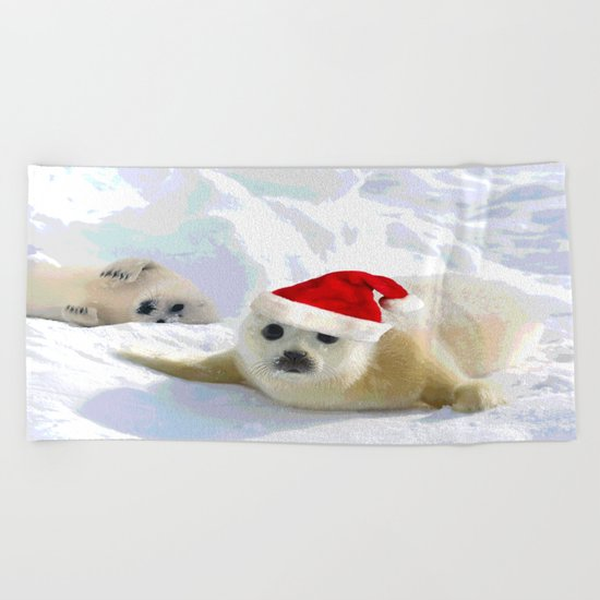Save Me | Christmas Spirit Beach Towel