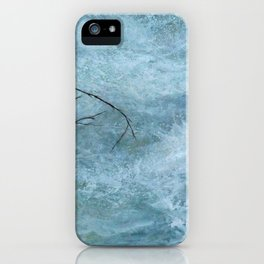 A torrential river iPhone Case
