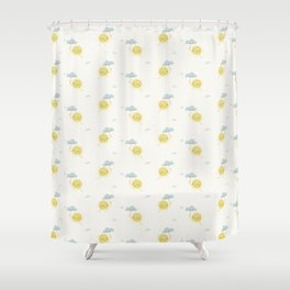 Little Sun white Shower Curtain