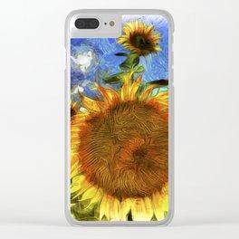 Sunflowers Vincent Van Goth Art Clear iPhone Case