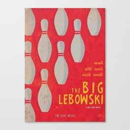 The Big Lebowski - Movie Poster, Coen brothers film, Jeff Bridges, John Turturro, bowling Canvas Print
