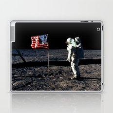 Buzz Aldrin and the U.S. Flag on the Moon Laptop & iPad Skin