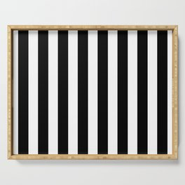 Classic Black and White Football / Soccer Referee Stripes Serving Tray