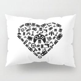 I Love Gaming | Gamer Heart Games Computer Online Pillow Sham