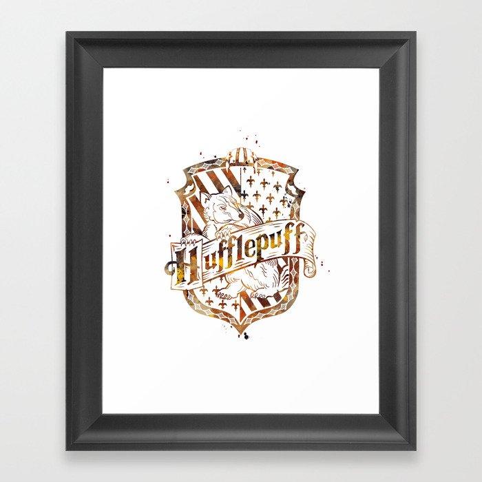 Hufflepuff Crest Gerahmter Kunstdruck