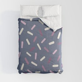 Hand painted blush pink lavender white confetti brushstrokes Comforters