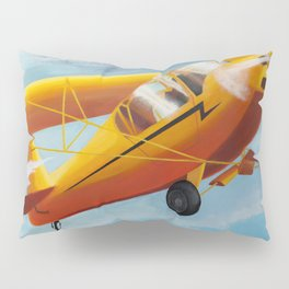 Yellow Plane, Blue Sky Pillow Sham