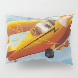 Yellow Plane, Blue Sky Pillow Sham