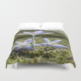 Queen and court- Crocus  Springflowers Duvet Cover