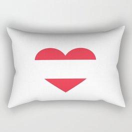 Austria  love flag heart designs  Rectangular Pillow