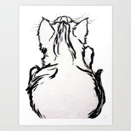 Pocky the Kitten Art Print