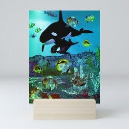 Exploration 3D Aquarium ORCA Mini Art Print