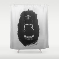 fear Shower Curtains featuring Fear by Katy Lawler