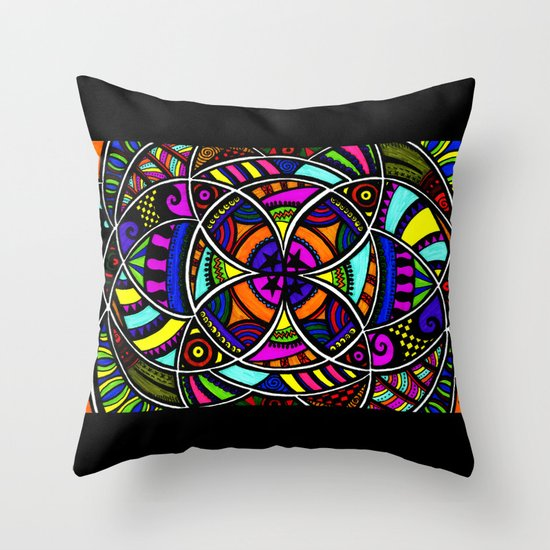 The flower within Throw Pillow