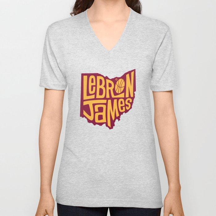 LebronJames LA Unisex V-Neck