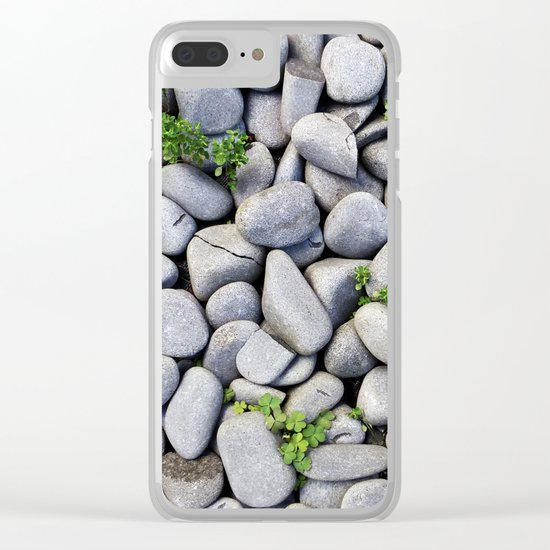 Sea Stones - Gray Rocks, Texture, Pattern Clear iPhone Case