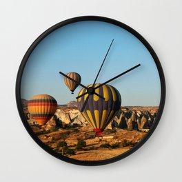 in a hot-air balloon over Cappadocia Wall Clock