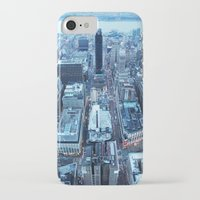 manhattan iPhone & iPod Cases featuring Manhattan by Joanna Dickinson